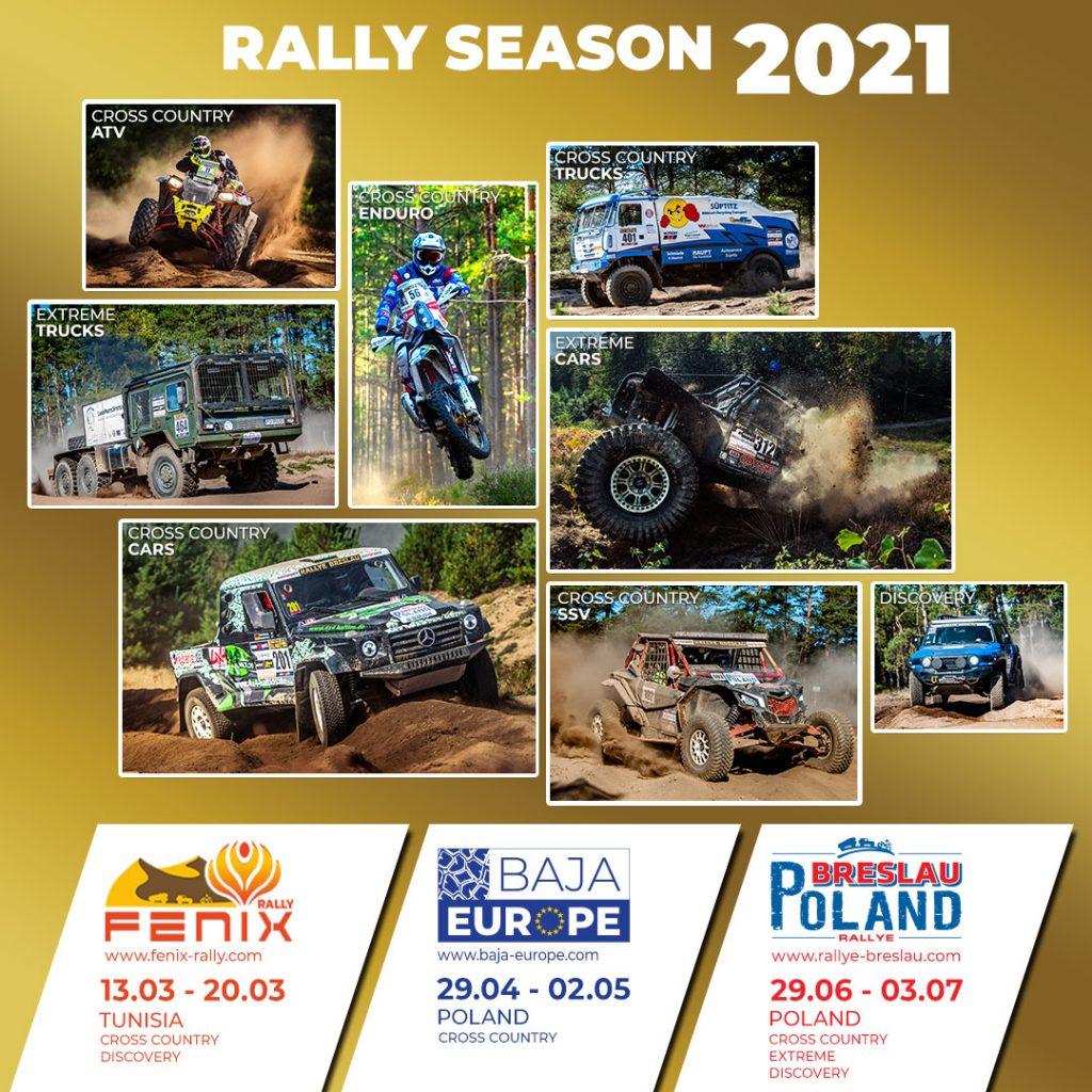 Le calendrier RBI Sport pour 2021 est désormais officiel. – Rallye
